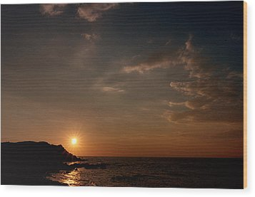 Wood Print featuring the photograph Sunset   by Laura Melis