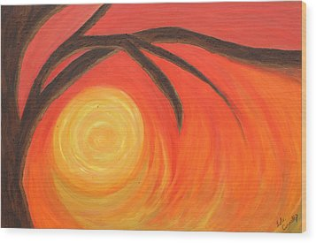 Sunset Wood Print by Lola Connelly