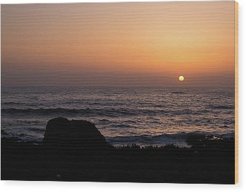 Wood Print featuring the photograph Sunset by Lora Lee Chapman