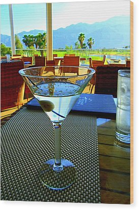 Sunset Martini Wood Print by Randall Weidner