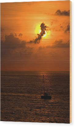 Sunset Mexico Wood Print by Xavier Cardell