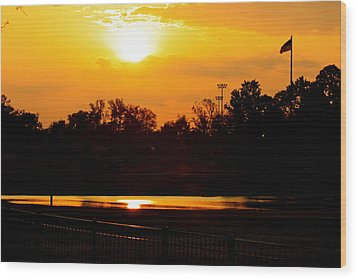 Sunset Wood Print by Michael Albright