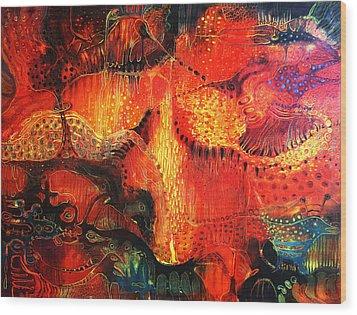 Sunset Mirage II Wood Print by Lolita Bronzini