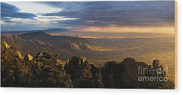 Sunset Monsoon Over Albuquerque Wood Print by Matt Tilghman