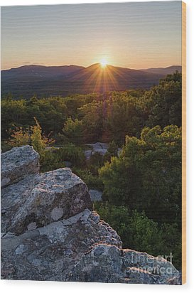 Sunset, Mt. Battie, Camden, Maine 33788-33791 Wood Print