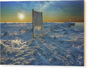 Sunset Of Frozen Dreams Wood Print by Kathi Mirto
