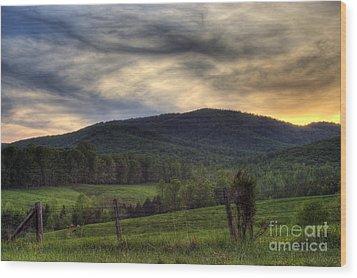 Sunset On Appleberry Mountain 2 Wood Print