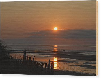 Wood Print featuring the photograph Sunset On Cape Cod by Alana Ranney