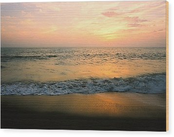Sunset On Captiva Wood Print by AnnaJanessa PhotoArt