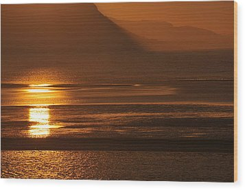 Wood Print featuring the photograph Sunset On Coast Of North Wales by Harry Robertson