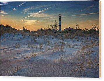 Sunset On Fire Island Wood Print by Rick Berk