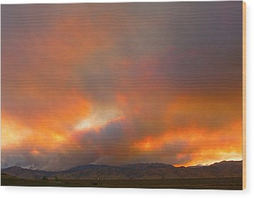 Sunset On Fire Wood Print by James BO  Insogna
