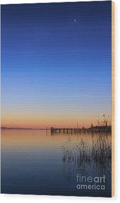 Sunset On Lake Constance II Wood Print by Bernd Laeschke