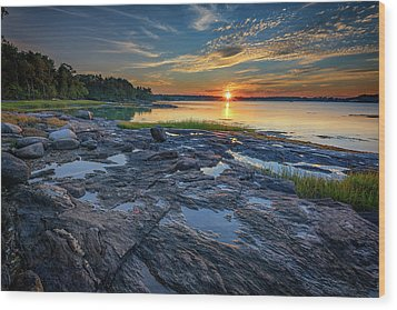 Wood Print featuring the photograph Sunset On Littlejohn Island by Rick Berk