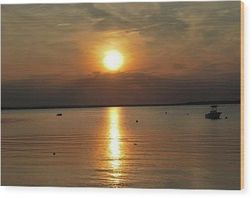 Sunset On Pocasset Wood Print
