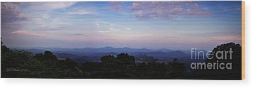 Sunset On The Blue Ridge Wood Print