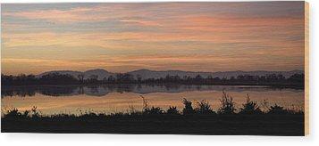 Sunset On The Coast Range Wood Print by Charlie Osborn