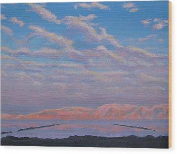 Sunset On The Dead Sea In Israel Wood Print