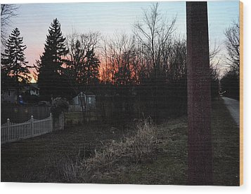 Wood Print featuring the relief Sunset On The Great Western Trail by Jeanette O'Toole