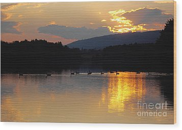 Wood Print featuring the photograph Sunset On The Lake by Vilas Malankar