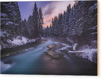 Wood Print featuring the photograph Sunset On The Metolius by Cat Connor