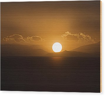 Wood Print featuring the photograph Sunset On The Salar by Ron Dubin