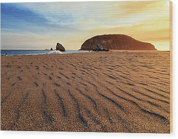Wood Print featuring the photograph Sunset On The Sands Of Brookings by James Eddy