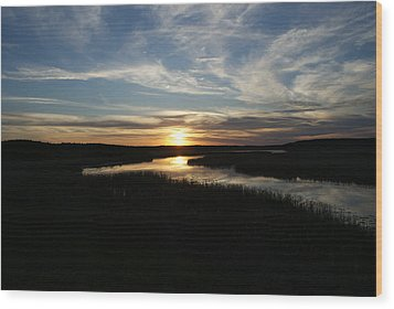 Sunset On The Totagatic Wood Print by Ron Read