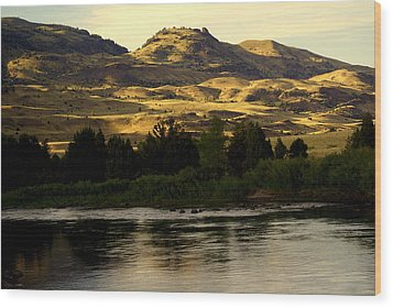 Sunset On The Yellowstone Wood Print by Marty Koch