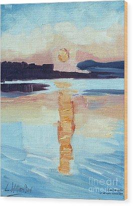 Sunset On Vancouver Island Wood Print