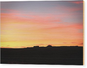 Sunset Over Cairnpapple Wood Print by RKAB Works
