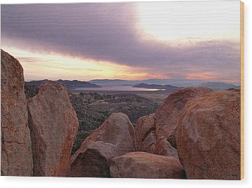 Sunset Over Diamond Valley Lake Wood Print by Glenn McCarthy Art and Photography
