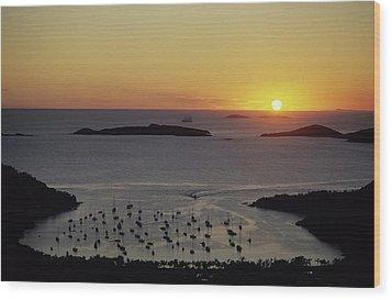 Sunset Over Great Cruz Bay Wood Print by Don Kreuter