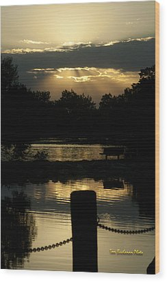 Sunset Over Henderson Wood Print by Tom Buchanan