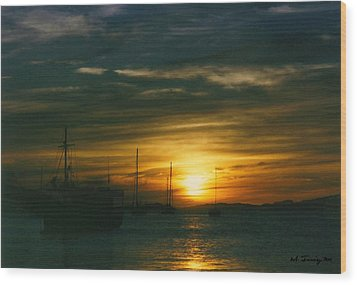 Wood Print featuring the photograph Sunset Over Isla Margarita by Maciek Froncisz