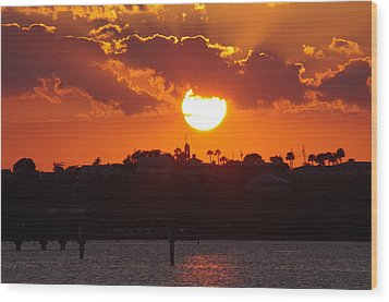 Wood Print featuring the photograph Sunset Over Jensen by Don Youngclaus