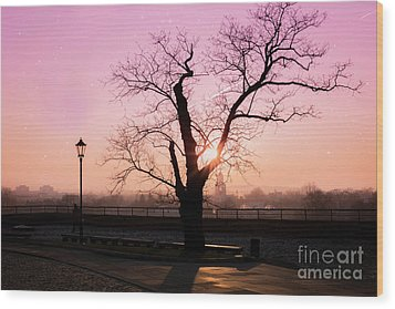 Wood Print featuring the photograph Sunset Over Krakow by Juli Scalzi