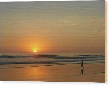 Sunset Over La Jolla Shores Wood Print by Christine Till
