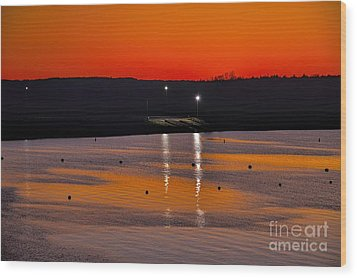 Wood Print featuring the photograph Sunset Over Lake Texoma by Diana Mary Sharpton