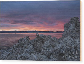 Wood Print featuring the photograph Sunset Over Mono Lake by Sandra Bronstein