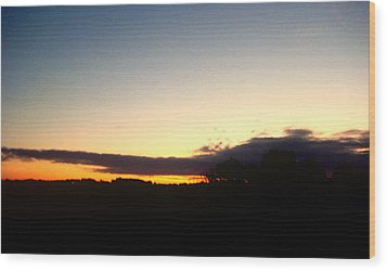 Sunset Over Oxford Wood Print by Marcia Crispino
