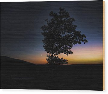 Wood Print featuring the photograph Sunset Over Pennsylvania by Maciek Froncisz