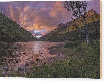 Sunset Over Profile Lake Wood Print