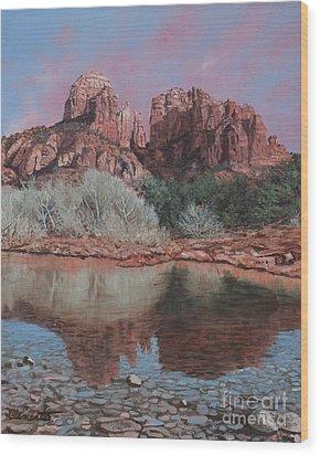 Sunset Over Red Rocks Of Sedona  Wood Print