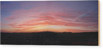 Wood Print featuring the photograph Sunset Over Sw Ontario P1 by Maciek Froncisz