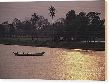 Sunset Over The Perfume River Wood Print by Sami Sarkis