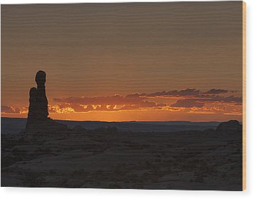 Sunset Over The Petrified Dunes Wood Print