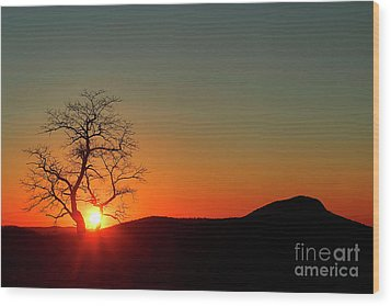 Wood Print featuring the photograph Sunset Over Virginia by Darren Fisher