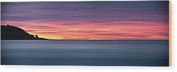Wood Print featuring the photograph Sunset Penisular, Bunker Bay by Dave Catley