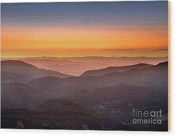 Sunset Point Wood Print